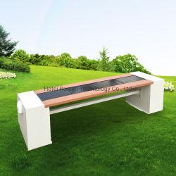Parque Solar urbano público de la banqueta de asientos con luces LED