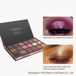 VERONNI 18 couleurs Matte Eye Shadow hautement crème pigmentée composent la palette couleur facile à mélanger de la Terre fard à paupières cosmétiques 3 Types