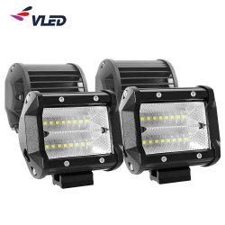 Iluminación LED de encendido automático de luces 4'' dos filas de la barra de luz de trabajo