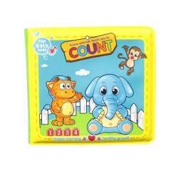 Baby spielt Bad-Buch-Badezimmer-das wasserdichte Baby-Wasserbad-Buch-Spielzeug-Schwimmen-Nahrungsmitteltier, das früh pädagogisches Spielzeug für Kinder erlernt