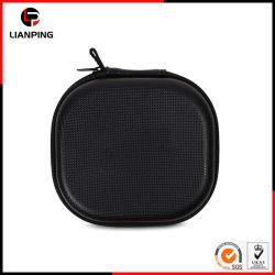 Cuero PU Portable Hard Shell EVA Auricular con mosquetón