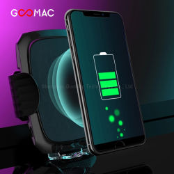 Goomac iPhone soporte automático Cargador de coche cargador inalámbrico Monte Qi cargador puede cargar el teléfono móvil con el teléfono caso