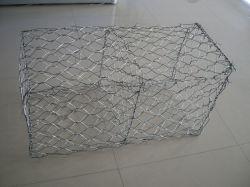 亜鉛めっき鉄のワイヤー六角形メッシュギャビオンボックスバスケットの石 ケージ