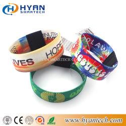 Venda Direta de fábrica Tecidos de malha elástica de poliéster pulseira RFID Chip Ntag 13.56MHz