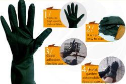 120g lange termijn die de Waterdichte Chemische Bestand Zwarte Rubber Industriële Werkende Handschoenen van het Latex werken