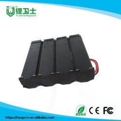 Черный 4 Cell Liion пластиковый держатель батареи размера 18650 для батареи