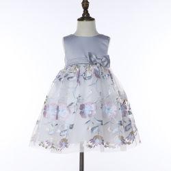 Girl roupas sem mangas Cintura Ruched Barata Menina vestidos para Desgaste Formal