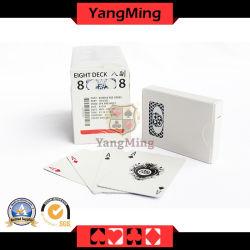 Kasino-schwarzer Code-Drucken-kundenspezifischer Schürhaken-Spielkarte (YM-PC03)