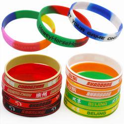 Venda por grosso de Silicone Personalizada Barata Fashion Sport banda de borracha de silicone Imprimindo Bracelete Pulseira de logotipo para Oferta Promocional