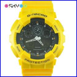3ATMはLCDデジタルの電子子供の腕時計を防水する
