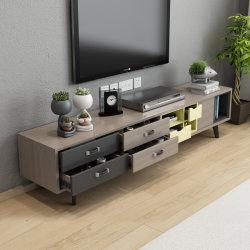 Новые творческие многоцветные деревянные телевизора с сосновой ног