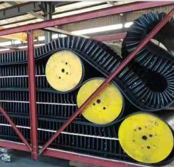 Черная резиновая боковой стенки ленты конвейера для электростанции