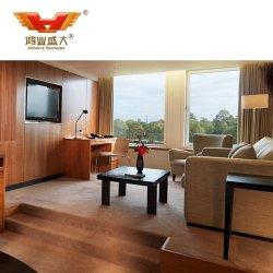 Mobilia cinque stelle della base dell'hotel della camera da letto del MDF