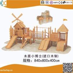 목제 활주 아이를 위한 나무로 되는 옥외 운동장 장비 이상으로 아이들