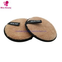 Libre de sustancias químicas redonda blanca reutilizables de paño de microfibra removedor de maquillaje de bambú