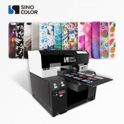 Stampante UV a base piatta di piccolo formato della cassa del telefono del silicone di formato A3 per stampa rotonda dell'oggetto
