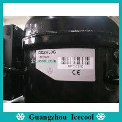 Des Gleichstrom-12V-24V Kühlraum-Kompressor Qdzh30g Gefriermaschine-Kompressor-R134A verwendet für Auto/Lieferung/das Kampieren