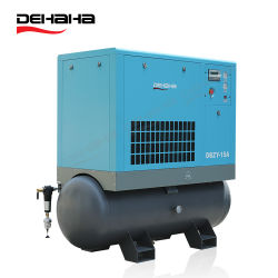 11 industriais kw 15 HP quatro em um sistema integrado de baixo ruído óleo portátil injetados 16bar único parafuso Compressor de Ar com 500L o Tanque de Ar de fibras de corte a laser