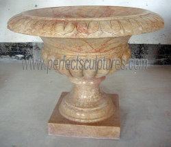 La Chine usine pierre taillée des prix de gros pot de fleurs du semoir en marbre (BAA565)