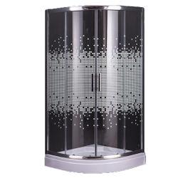 Ванная комната угол въезда мозаика очистить стекло простых душ стойки кабины
