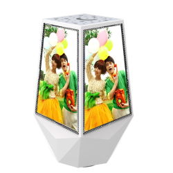 Magic Magnetic floating Rotating Picture Frame, Wedding Favors LED Cube photo Frame