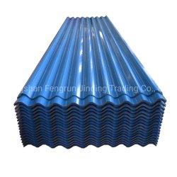 Les matériaux de toiture couleur acier galvanisé de toiture en acier recouvert de feuilles de carton ondulé étanche