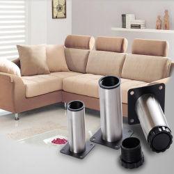 Muebles modernos de acero inoxidable Accesorios de hardware Mesa Armario Patas ajustables