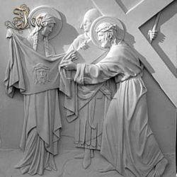 Novos designs de Pedra Branca Figura artesanais de alívio de escultura de parede