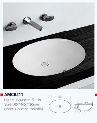 Amb211 카운터 오벌 모양의 욕실 싱크대 아래 저렴한 대형 사이즈