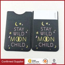 Карманн телефона бумажника сотового телефона владельца карточки PU Stick-on кожаный