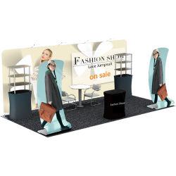 Exibição de publicidade de exposições de equipamento de decoração do estande da parede de fundo