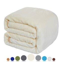Luxury 330 GSM cobertor de lã leve cobertor de cama ou sofá