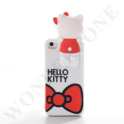Téléphone mobile du couvercle du carter d'animaux en silicone pour iPhone