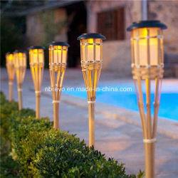 Handmade bambou châssis lampe torche solaire de jardin (RS131)