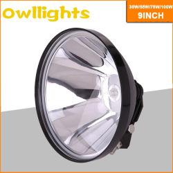 35W 55W 75W 4X4 off-Road de qualidade superior best selling 9 polegadas da luz de direção HID, Lâmpada de farol HID