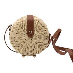 Part de faire de la mode d'osier tressé sac sac à main en rotin de paille