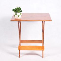 Eenvoudig Bamboe die Draagbare Eettafel van de Lijst van het Meubilair van de Lijst de Vierkante vouwen