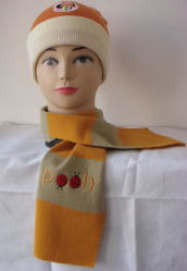De gebreide Sjaal van de Kinderen van de Winter Warme Acryl Afgedrukte