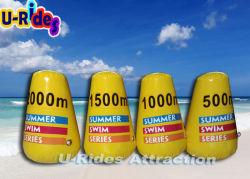 Надувные буи безопасности воды на пляже