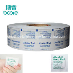 ممسحة طبية للاستعمال مرة واحدة ورق مسحات الكحول + ألومنيوم رقائق اللفات المنقوعة
