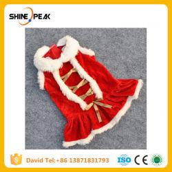 De kleine Kostuums van de Kat van de Hond passen Giften van Kerstmis van het Product van Puppey van het Huisdier van de Rok van de Rok van Kerstmis van Kleren de Klassieke Rode voor de Kleine Gunst van de Kat van de Hond aan