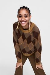 As mulheres Fashion Jackquard Suéter Casual Pesado