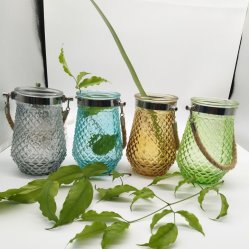Vase en verre de suspension de l'art en verre pour la décoration d'accueil