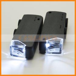 Lente di ingrandimento Pocket tenuta in mano nera dei monili del microscopio 60X LED Magnifer dei monili