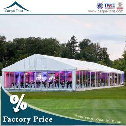 Parede de vidro transparente de exterior Premium Retângulo VIP grande evento tenda com piso de cassetes integrado para a venda de produtos