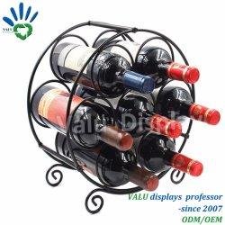 Metalen Wijnrek, Iron Wine Display Rack Op Tafel Voor Thuis, Bar
