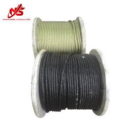 黒いOil Steel Wire Rope 6X19s+FC
