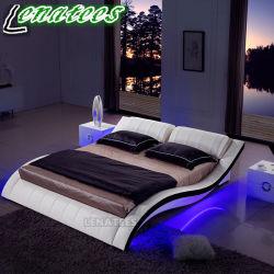 A044 유럽 대중적인 LED 가벼운 가죽 침대