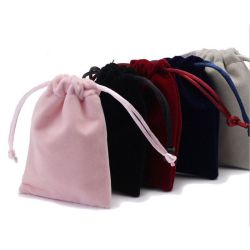 Le borse favoriscono i sacchetti impaccanti del regalo del Drawstring del velluto (CVB-1163)