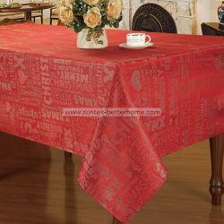 Comercio al por mayor de poliéster de Jacquard de Mantel de Navidad Año Nuevo de ropa de mesa
